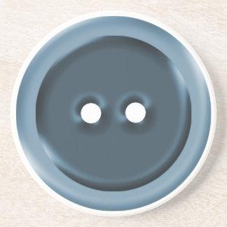 Big Blue Button Coaster