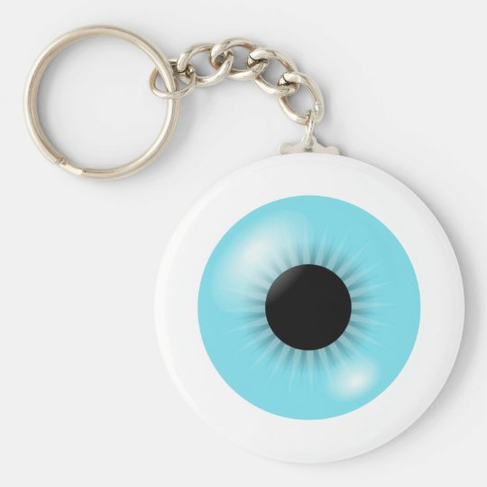 Big Blue Eyeball keychain