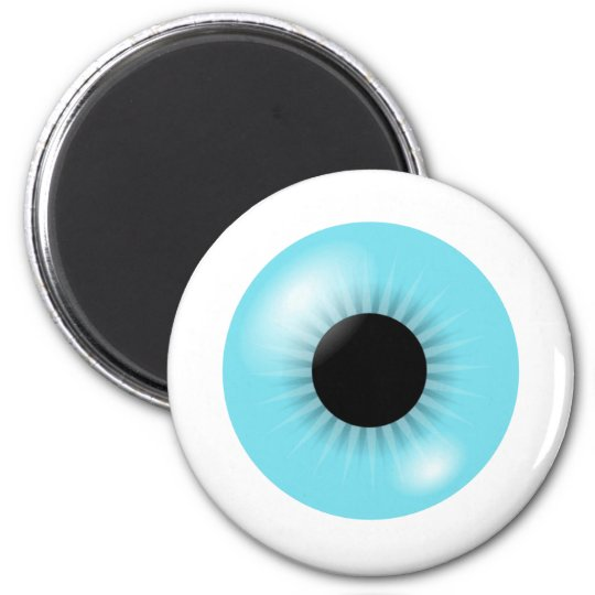 Big Blue Eyeball magnet