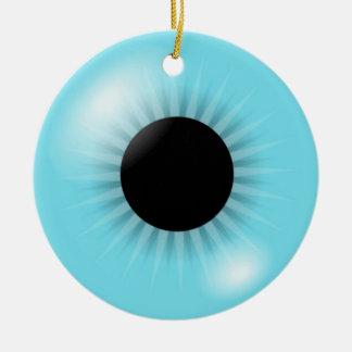 Big Blue Eyeball ormanent Christmas Ornament