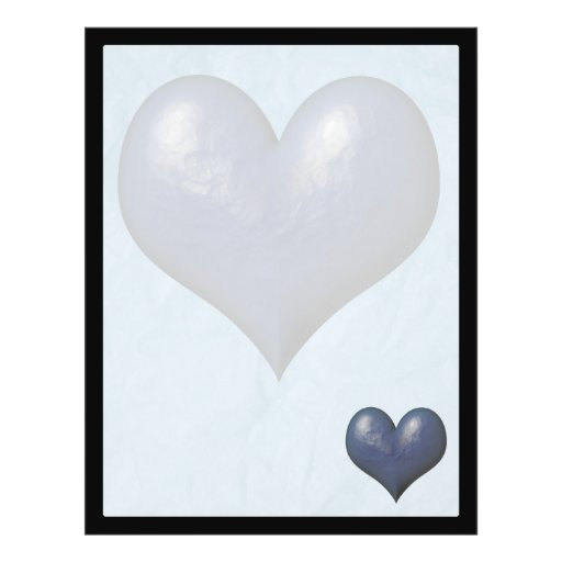 Big Blue Heart of Stone Personalized Flyer
