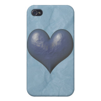 Big Blue Heart of Stone iPhone 4/4S Covers