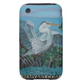 Big Blue Heron Tough iPhone 3 Case