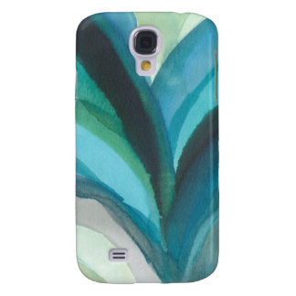Big Blue Leaf I Galaxy S4 Case