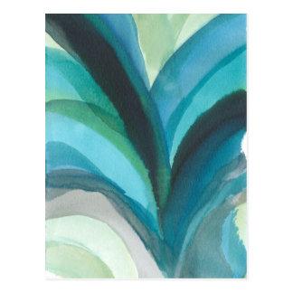 Big Blue Leaf I Postcard