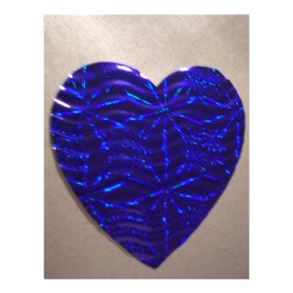 Big Blue Love Heart Custom Flyer