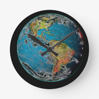 BIG BLUE MARBLE -- THE EARTH ROUND CLOCK