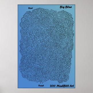 Big Blue Maze Print