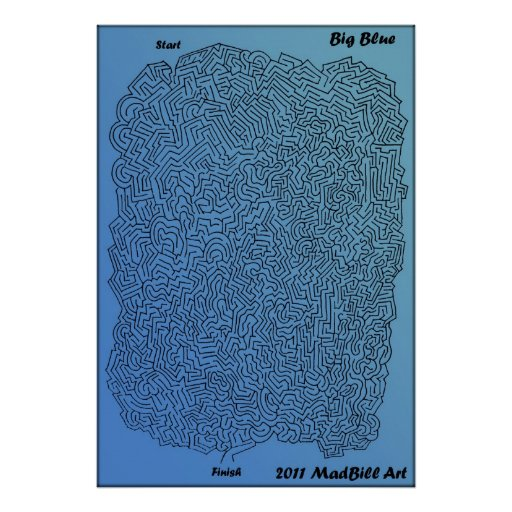 Big Blue Maze Poster