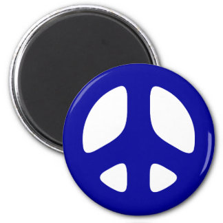Big Blue Peace Sign Magnet