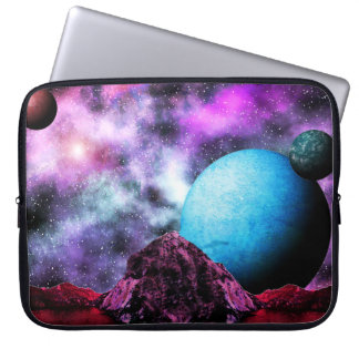 Big Blue Planet Space Scene Laptop Computer Sleeves