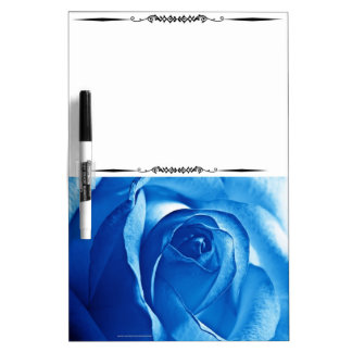 Big Blue Rose Bloom Dry Erase Whiteboard