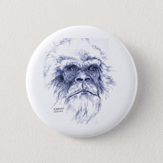 Big Blue Sasquatch 6 Cm Round Badge