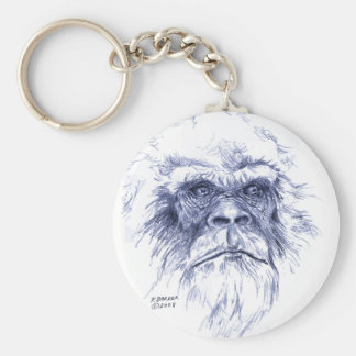 Big Blue Sasquatch Key Ring