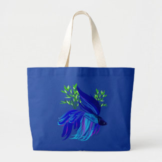 Big Blue Siamese Fighting Fish Bags