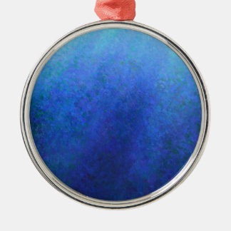 Big Blue Silver-Colored Round Decoration