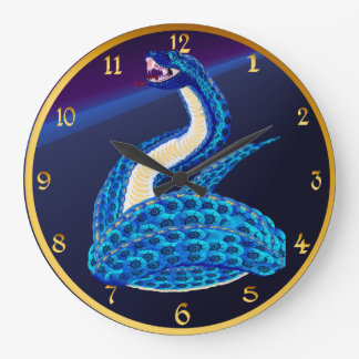 Big Blue Snake From Some Interesting Place Clock