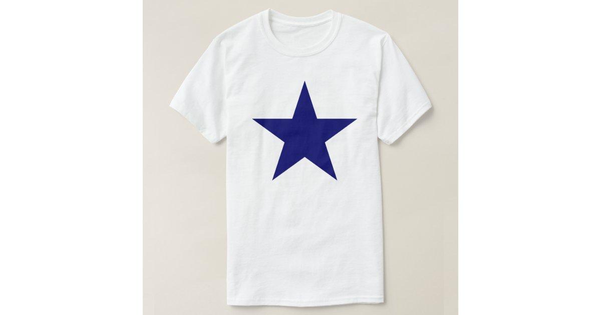 Big blue star t shirt zazzle for Big blue t shirts