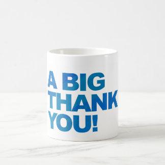 Big Blue Thank You Basic White Mug