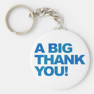 Big Blue Thank You Key Ring