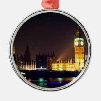 Big Bn on London River Christmas Ornament