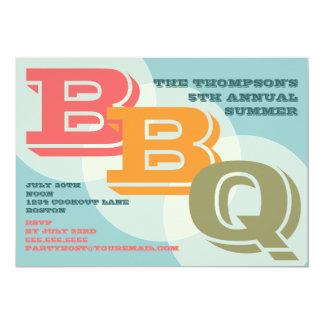 """Big Bold BBQ Invitation 5"""" X 7"""" Invitation Card"""