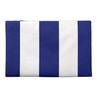 Big Bold Blue Stripe Travel Accessory Bags