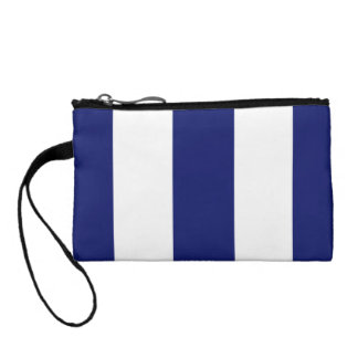Big Bold Blue Stripe Change Purse