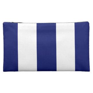 Big Bold Blue Stripe Cosmetic Bag
