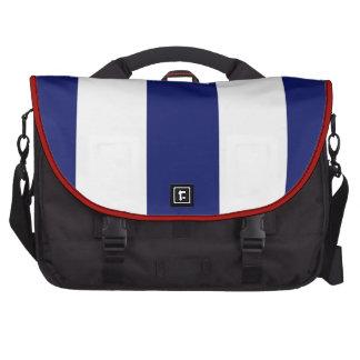 Big Bold Blue Stripe Commuter Bag