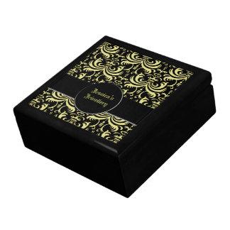 Big Bold Damask Gold Jewelry Boxes