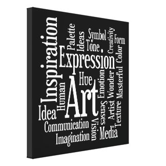Big Bold Inspiration - Artists Creativity Words Canvas Prints