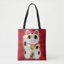 Big Bold Lucky Cat Tote Bag