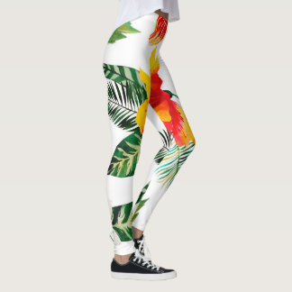 Big, bold tropical print leggings