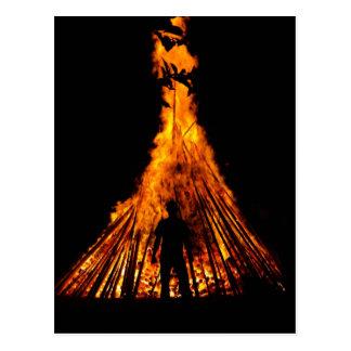 Big bonfire postcard