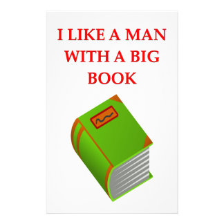 big book personalized stationery