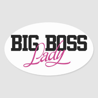 Big Boss Lady Oval Sticker