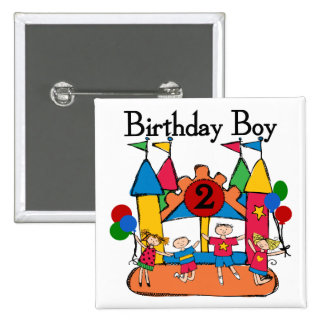 Big Bounce Boy 2nd Birthday Tshirts and Gifts 15 Cm Square Badge