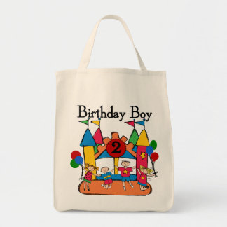 Big Bounce Boy 2nd Birthday Tshirts and Gifts Grocery Tote Bag