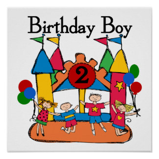 Big Bounce Boy 2nd Birthday Tshirts and Gifts Poster