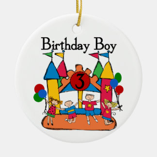 Big Bounce Boy 3rd Birthday T shirts and Gifts Christmas Ornament