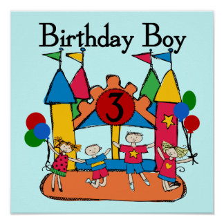 Big Bounce Boy 3rd Birthday T shirts and Gifts Poster