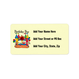 Big Bounce Boy 4th Birthday Tshirts and Gifts Label