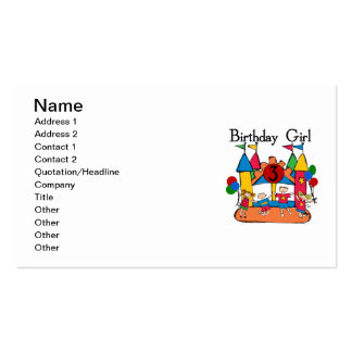 Big Bounce Girl 3rd Birthday Tshirts and Gifts Pack Of Standard Business Cards