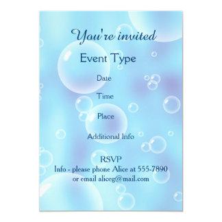 Big Bouncing Blue Bubbles 13 Cm X 18 Cm Invitation Card