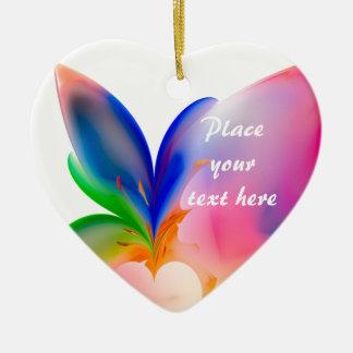 Big Bow Gift Box Ceramic Heart Decoration