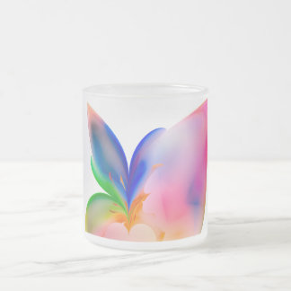 Big Bow Gift Box Frosted Glass Coffee Mug
