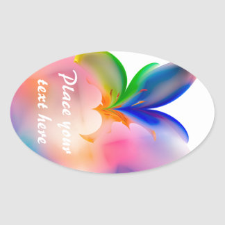 Big Bow Gift Box Oval Sticker