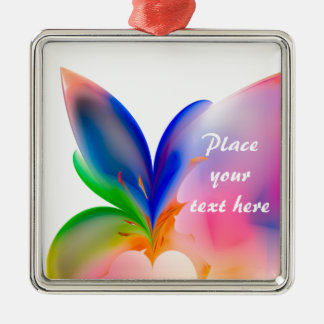 Big Bow Gift Box Silver-Colored Square Decoration