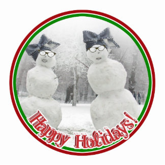 Big Bow Hat for Snowmen and the Holidays Photo Cutout